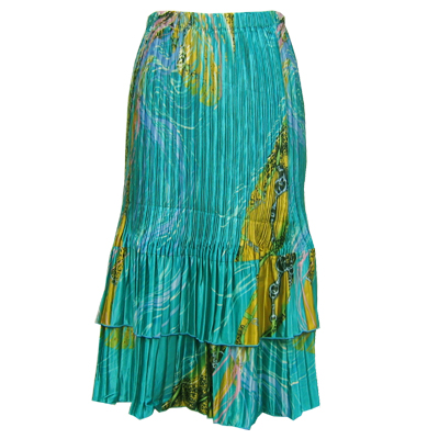Skirts - Satin Mini Pleat Tiered*
