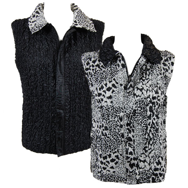 Wholesale Ultra Light Crush Silky Touch - 3/4 Sleeve* Reptile Black-White reverses to Solid Black -  S-L