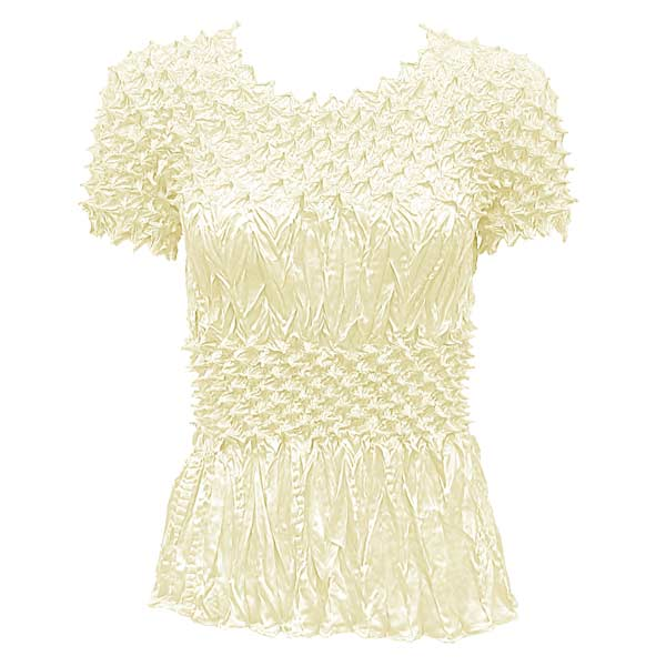 Wholesale Pineapple Spike - Short Sleeve Ivory - One Size (S-XL)