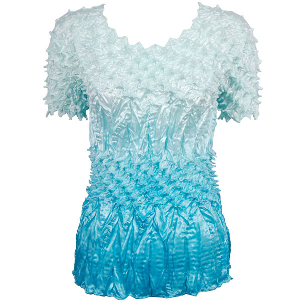 Wholesale Pineapple Spike - Short Sleeve Variegated Ice Blue - One Size (S-XL)