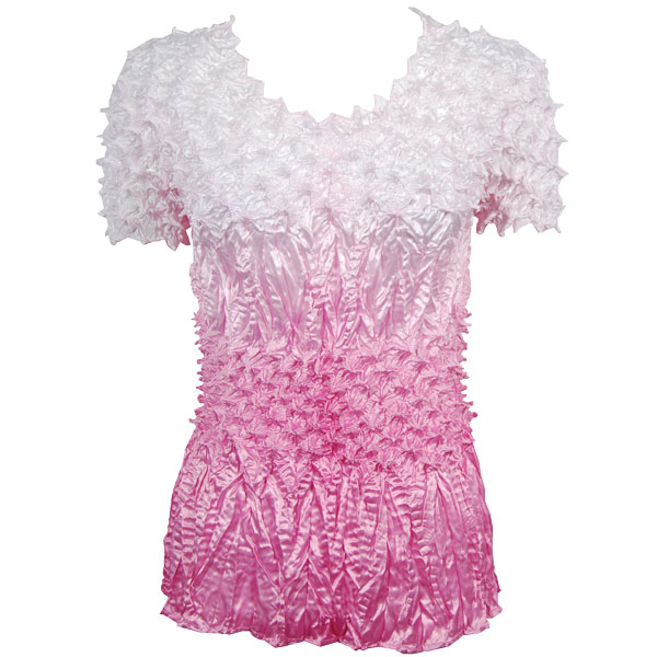 Wholesale Pineapple Spike - Short Sleeve Variegated Dusty Rose - One Size (S-XL)