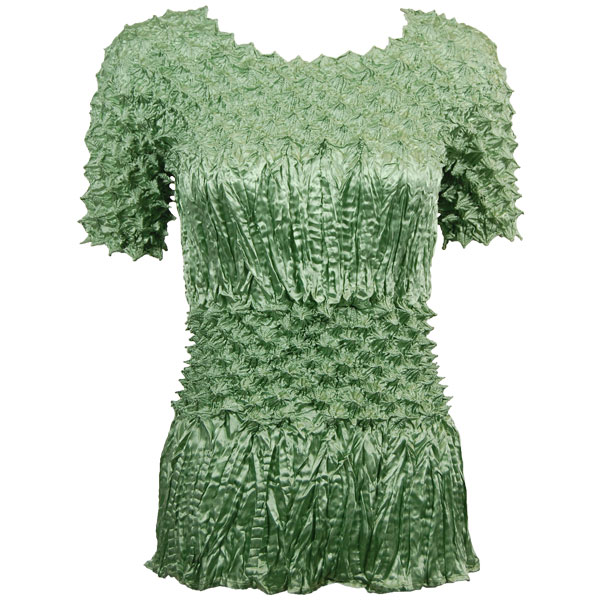Wholesale Pineapple Spike - Short Sleeve Sage - One Size (S-XL)