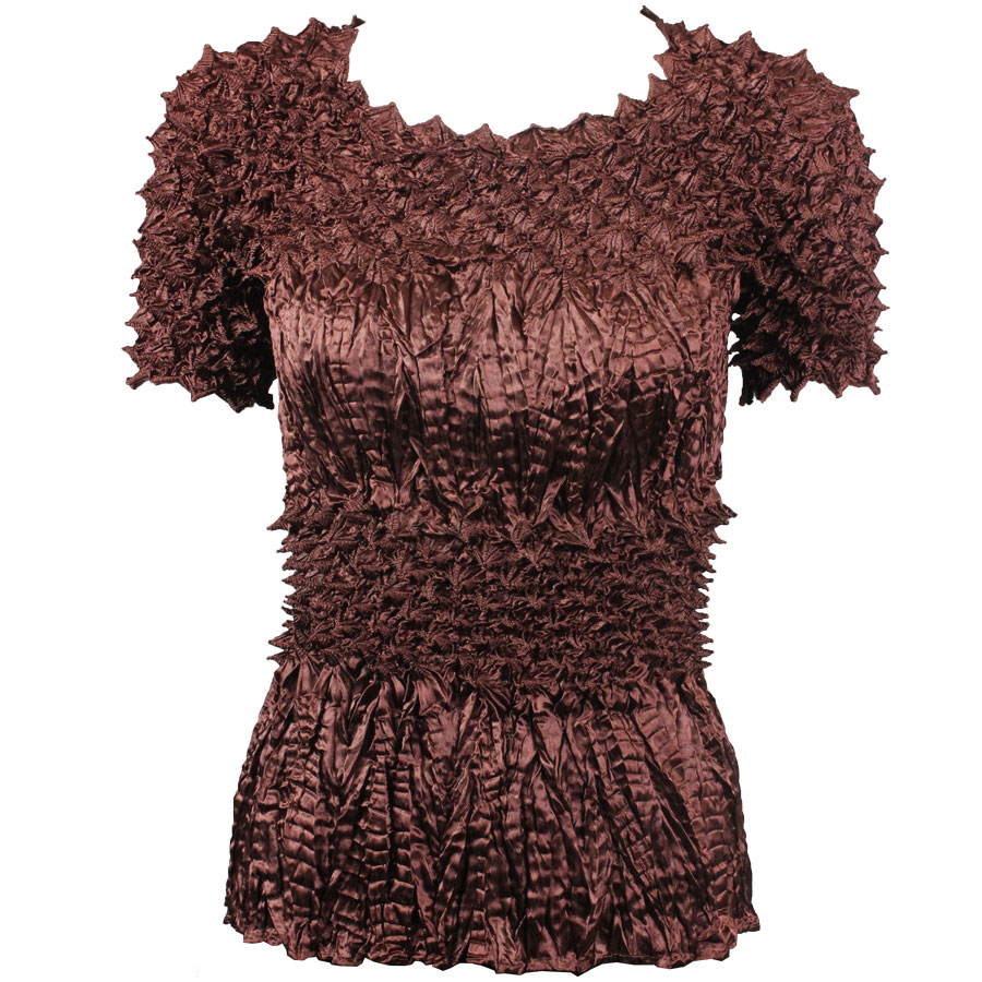 Wholesale Pineapple Spike - Short Sleeve Chestnut - One Size (S-XL)