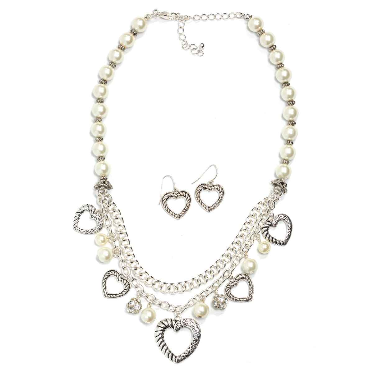 Fashion Necklace & Earring Sets - 1136 - Silver