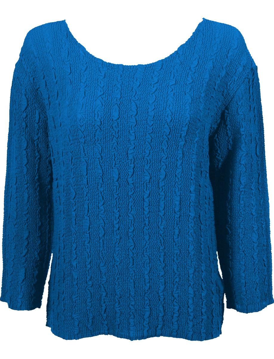 Wholesale Magic Crush Georgette - Three Quarter Sleeve* Solid Cornflower Blue - One Size (S-L)