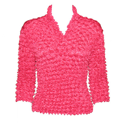Wholesale Gourmet Popcorn - Three Button 3/4 Sleeve Shocking Pink - One Size (S-XL)