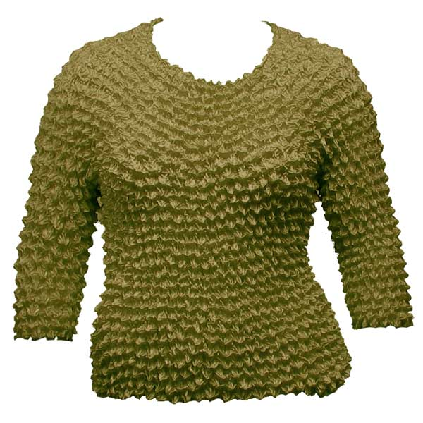Wholesale Silky Touch Popcorn - Queen Three Quarter Sleeve  Olive - Queen Size Fits (XL-3X)