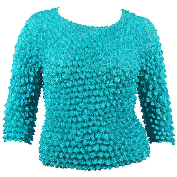 Wholesale Silky Touch Popcorn - Queen Three Quarter Sleeve  Light Teal - Queen Size Fits (XL-3X)