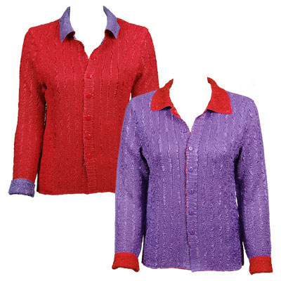 Wholesale Magic Crush - Reversible Jackets Solid Purple reverses to Solid Red - M-L