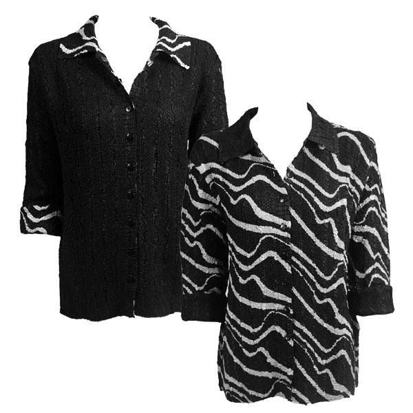 Wholesale Magic Crush - Reversible Jackets Ribbon Black-White reverses to Solid Black #P18 - L-XL
