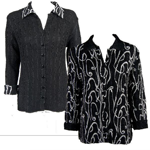 Wholesale Magic Crush - Reversible Jackets Swirl Black-White reverses to Solid Black -      S-M