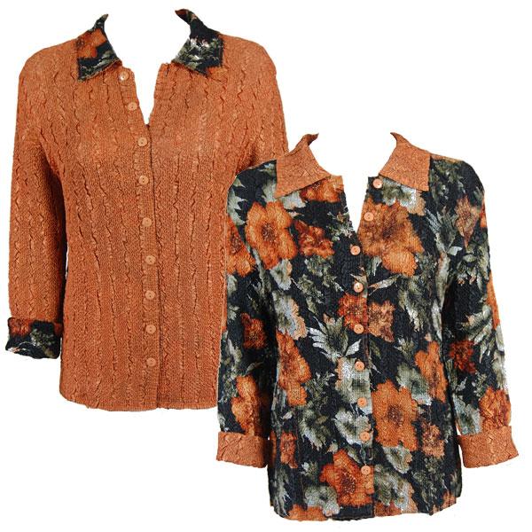 Wholesale Magic Crush - Reversible Jackets Hibiscus Black-Copper reverses to Solid Copper #P01 - L-XL