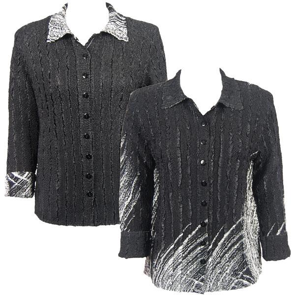 Wholesale Magic Crush - Reversible Jackets Lines - White on Black reverses to Solid Black -    L-XL