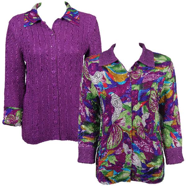 Wholesale Magic Crush - Reversible Jackets Magenta Fantasy reverses to Solid Purple -      S-M