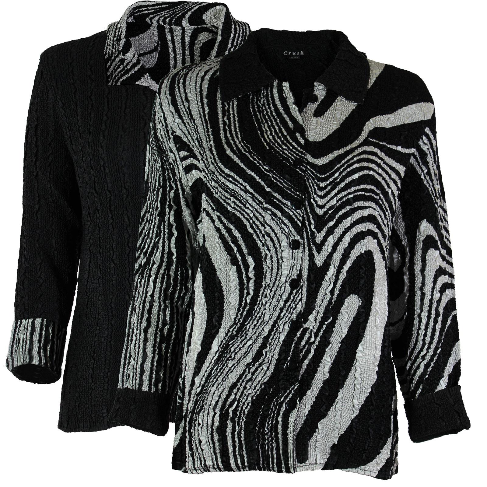 Wholesale Magic Crush - Reversible Jackets #14011 Black and White Swirl  -      S-M