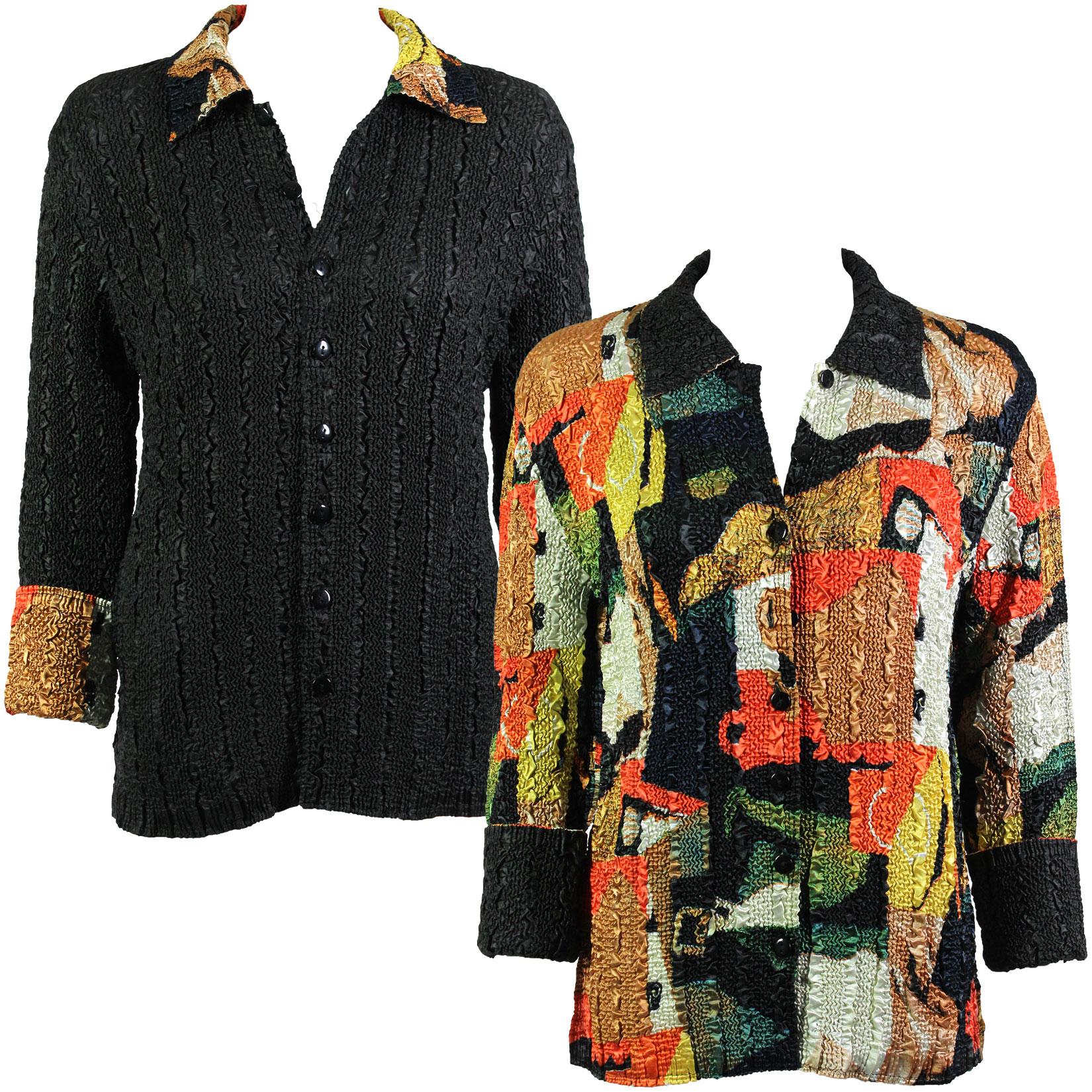 Wholesale Magic Crush - Reversible Jackets #14019 Modern Abstract Print (MB) - S-M