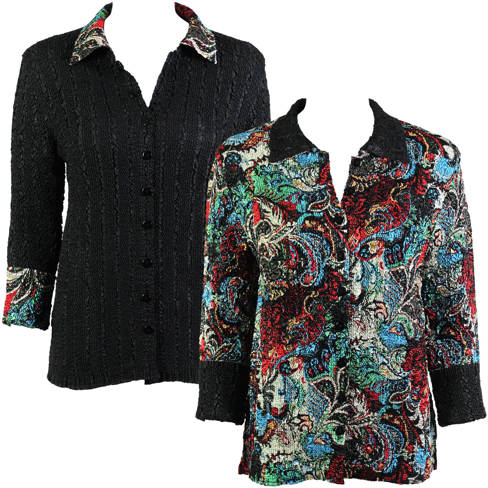 Wholesale Magic Crush - Reversible Jackets #3002 Multi Colored Paisley - L-XL