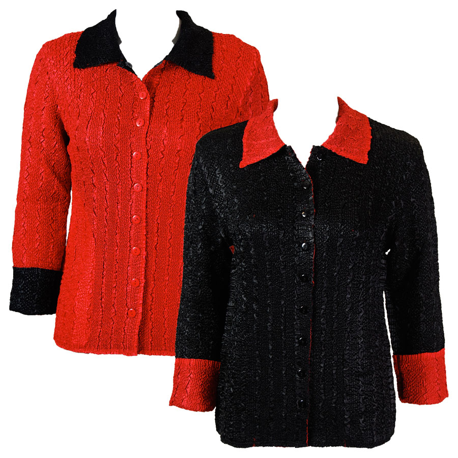 Wholesale Magic Crush - Reversible Jackets Solid Black reverses to Solid Red - M-L