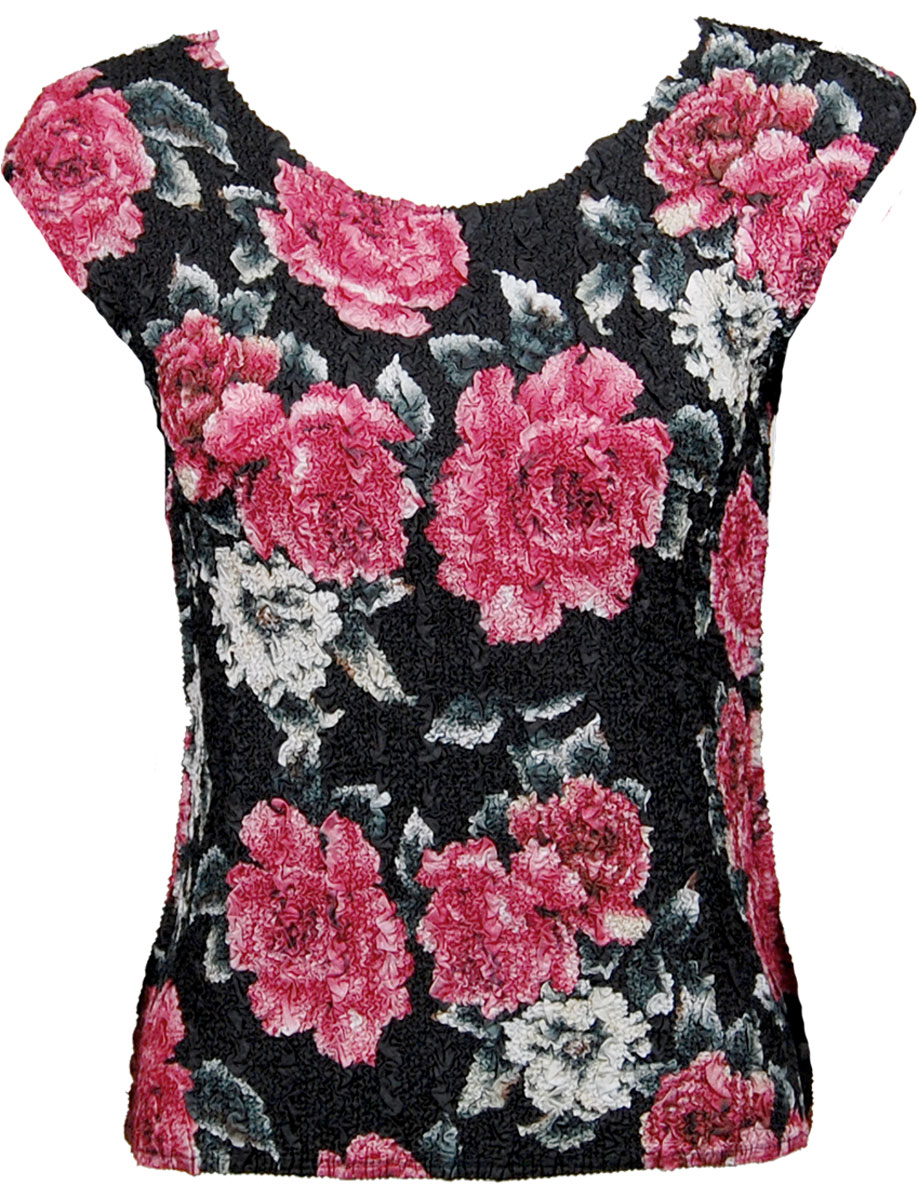 Wholesale Ultra Light Crush Silky Touch - Cap Sleeve* Pink Floral - One Size (S-L)
