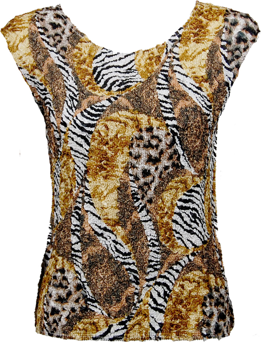 Wholesale Ultra Light Crush Silky Touch - Cap Sleeve* Safari Gold - One Size (S-L)