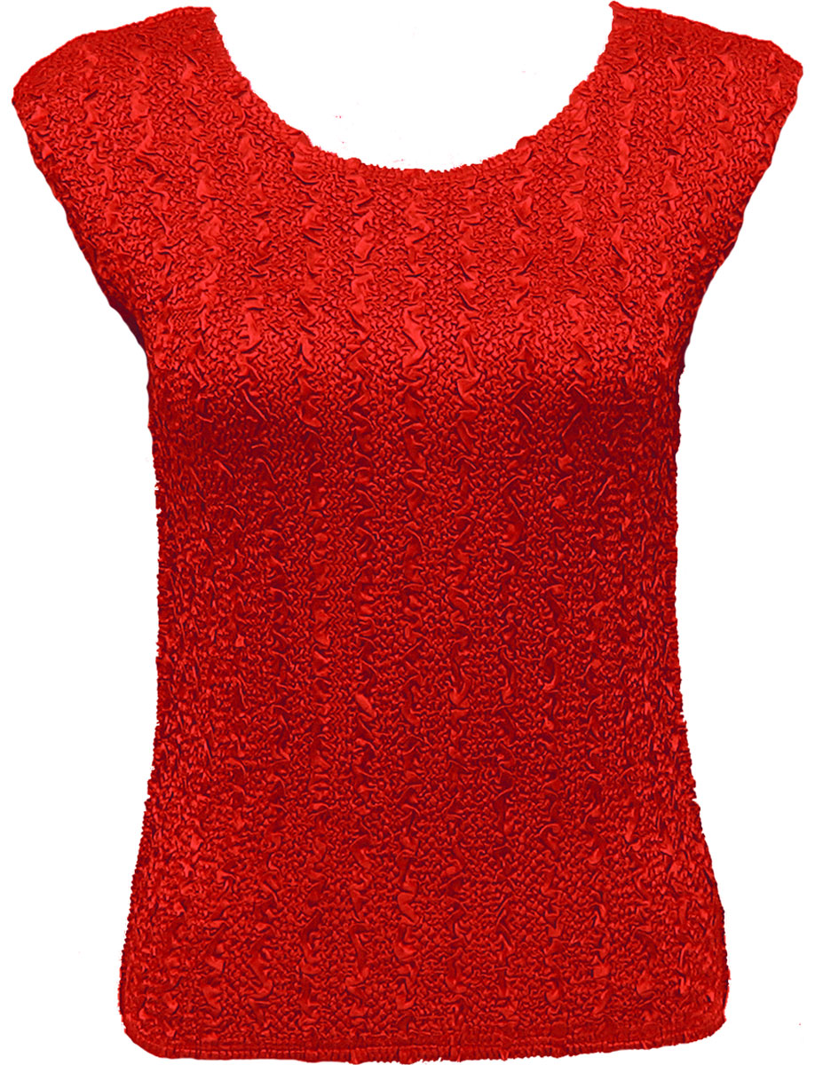 Wholesale Ultra Light Crush Silky Touch - Cap Sleeve* Solid Red - One Size (S-L)