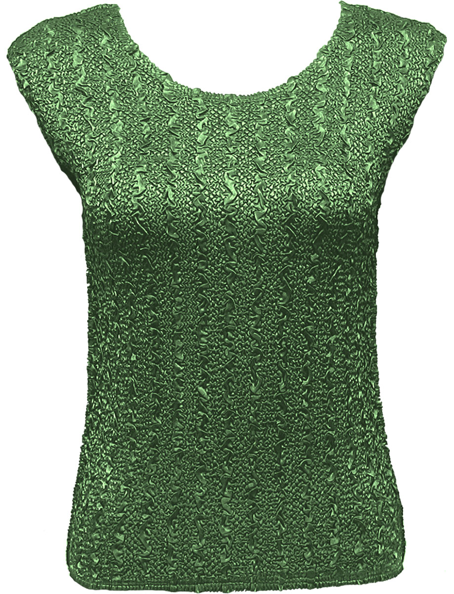 Wholesale Ultra Light Crush Silky Touch - Cap Sleeve* Solid Green - Plus Size Fits (XL-2X)