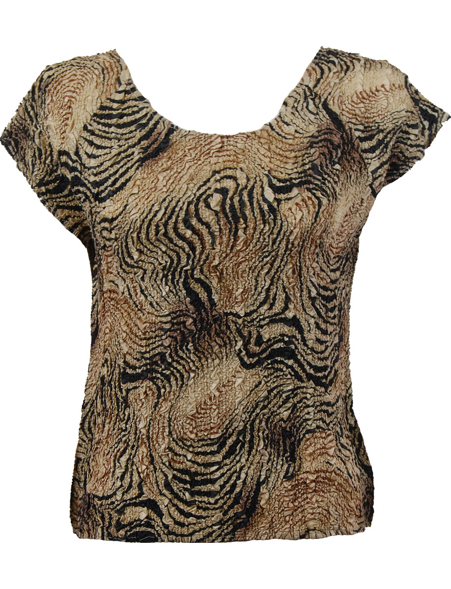 Wholesale Ultra Light Crush Silky Touch - Cap Sleeve* Swirl Animal - One Size (S-L)