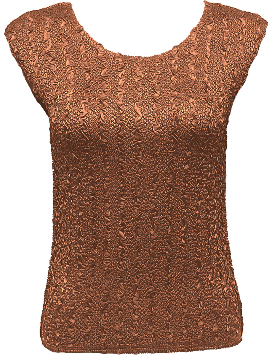 Wholesale Ultra Light Crush Silky Touch - Cap Sleeve* Solid Dark Taupe - One Size (S-L)