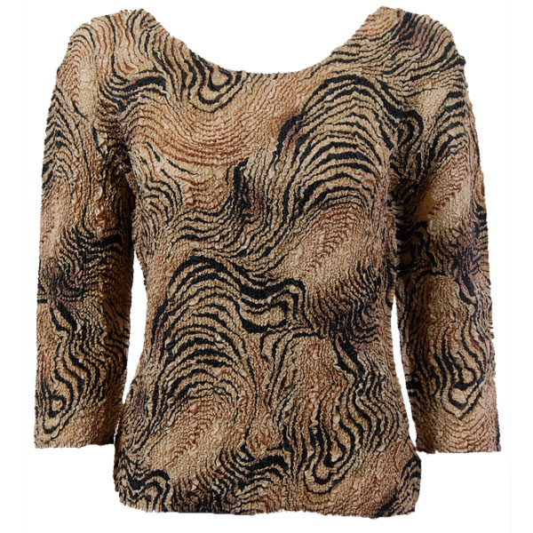 Wholesale Ultra Light Crush Silky Touch - 3/4 Sleeve* Swirl Animal - Plus Size Fits (XL-2X)
