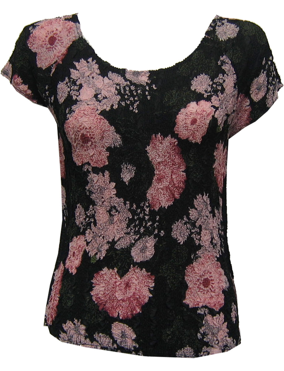 Wholesale Magic Crush Georgette - Cap Sleeve* Floral Stencil Pink - One Size (S-L)