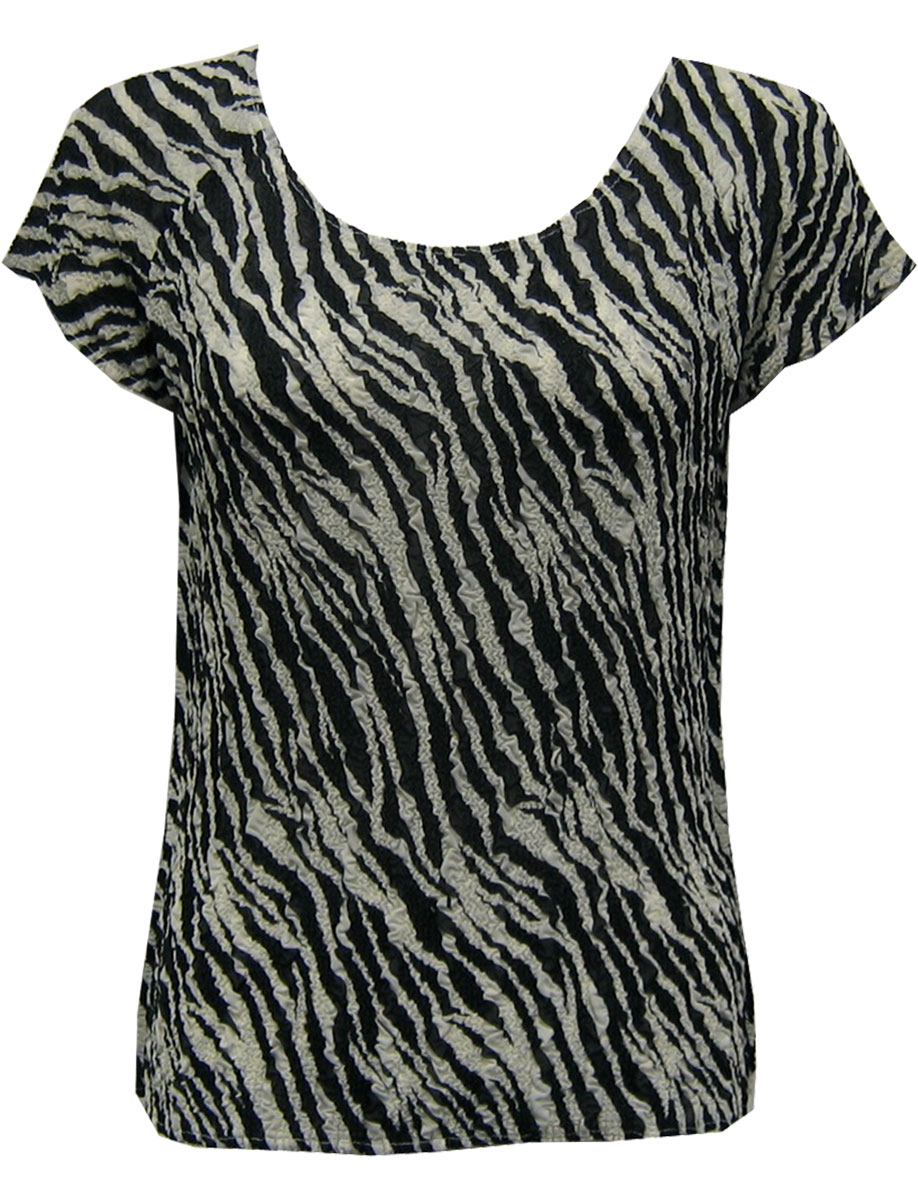 Wholesale Magic Crush Georgette - Cap Sleeve* Zebra Stripe - One Size (S-L)