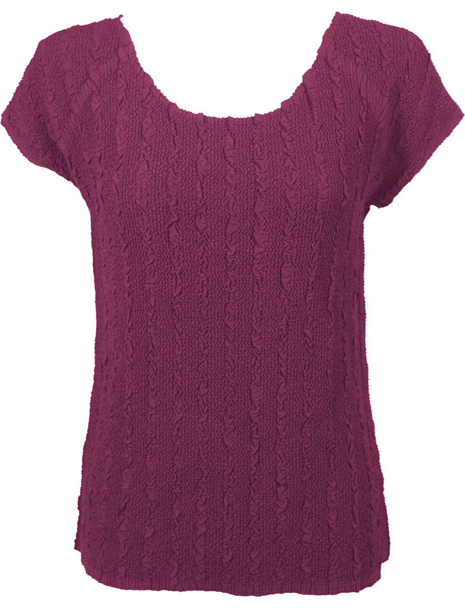 Wholesale Magic Crush Georgette - Cap Sleeve* Solid Raspberry - One Size (S-L)
