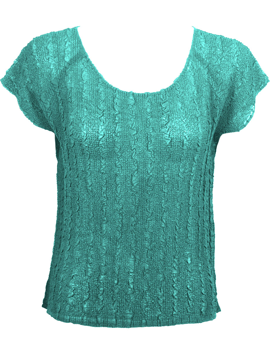 Wholesale Magic Crush Georgette - Cap Sleeve* Solid Seafoam - One Size (S-L)