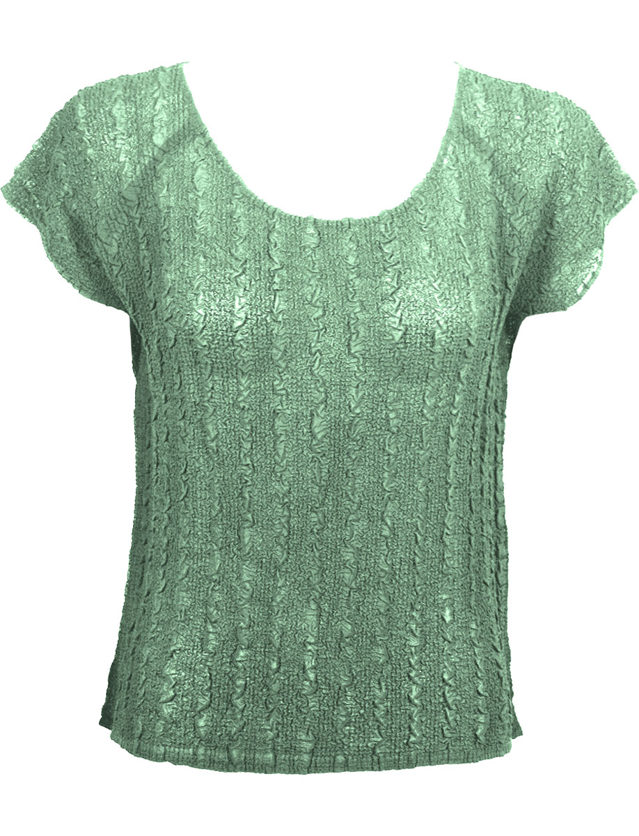 Wholesale Magic Crush Georgette - Cap Sleeve* Solid Light Moss - One Size (S-L)