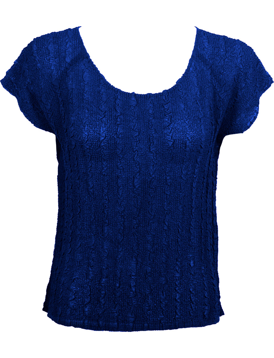 Wholesale Magic Crush Georgette - Cap Sleeve* Solid Royal  - One Size (S-L)