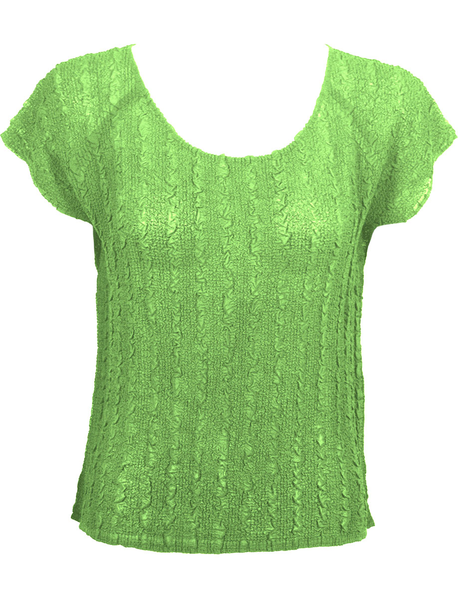 Wholesale Magic Crush Georgette - Cap Sleeve* Solid Lime - One Size (S-L)