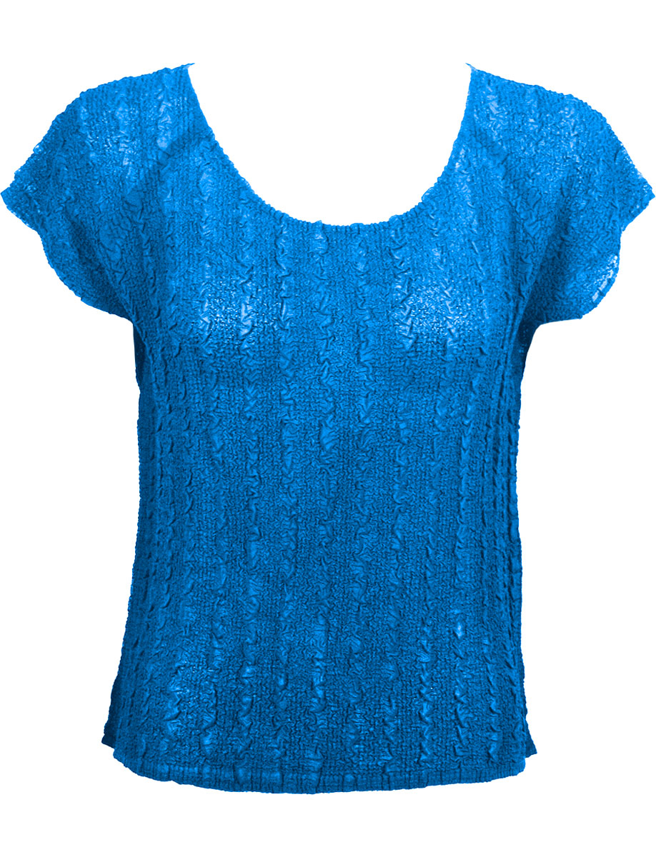 Wholesale Magic Crush Georgette - Cap Sleeve* Solid Cornflower Blue - One Size (S-L)