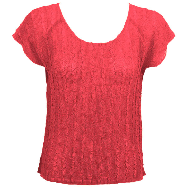 Wholesale Magic Crush Georgette - Cap Sleeve* Solid Coral  - One Size (S-L)
