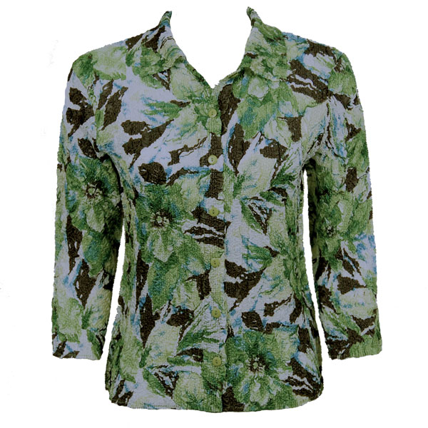 Wholesale Ultra Light Crush Silky Touch - Blouse*  Tropical Green - One Size (S-L)