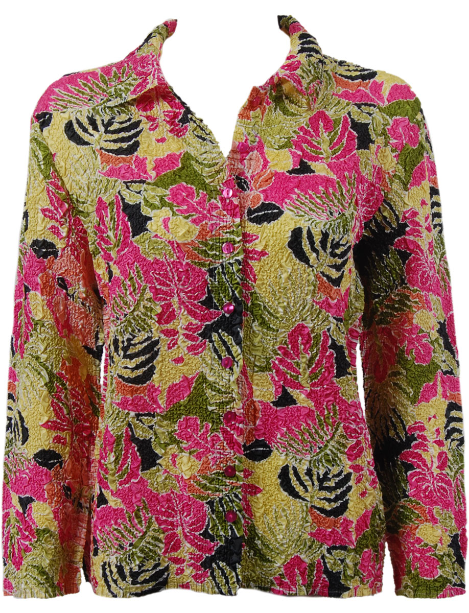 Wholesale Ultra Light Crush Silky Touch - Blouse*  Tropical Heat - Plus Size Fits (XL-2X)